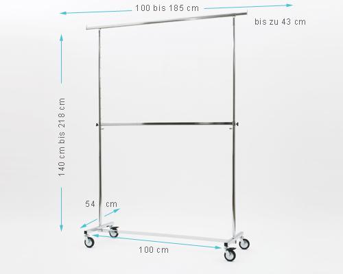 kleiderst nder company doppel jumbo kleiderst nder mit zusatzstange f r 2 ebene sehr stabile. Black Bedroom Furniture Sets. Home Design Ideas
